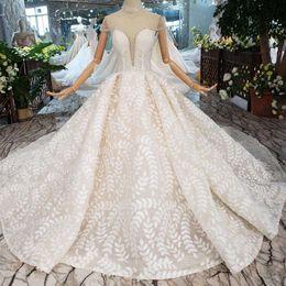 V Neck Collared Wedding Dresses Australia - 2019 Newest Design Lebanon Wedding Dresses Pearls Collar Chain Short Sleeve Wedding Gowns Illusion Deep V Neck Applique Garden Bridal Gowns