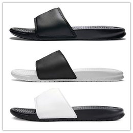 designer beach shoes NZ - Hot Sale Designer Shoes Rubber Slide Sandals Brocade Mens Slipper Fashion Flip Flops Women Striped Beach Scuffs Causal Slippers Luxury Shoes