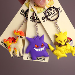 Eevee Figure Australia - 100pcs Pikachu Charmander Bulbasaur Squirtle Dragonite Eevee Mewtwo Snorlax PVC Keychain Action Figure For Child Holiday Party Gifts 4-7cm
