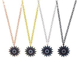 Gold Pendant 18k Sunflower Australia - Hot Fashion Sunflower Pendant Necklaces Newest Luxury Designer Wedding Necklace Womens Sun flower Necklaces Girls Hip Hop Jewelry Lover Gift