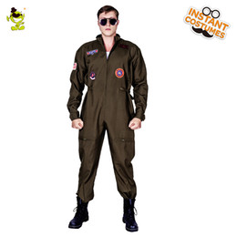 movie guns Australia - New Arrival Men's Top Gun Costume Masquerade Gun Jumpsuit Carnival Party Performance Movie Strong Clothing For Male Suits