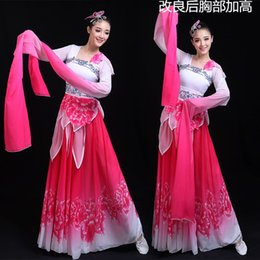 afb2091a7f8c9 2019 new woman gradient ink water sleeves costumes chinese classical dance  clothes plum tears embroidery hanfu ancient fairy