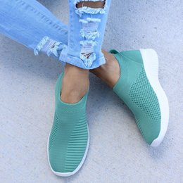 $enCountryForm.capitalKeyWord Australia - 2019 Women Flats Women Shoes Summer Casual Shoes Knitting Sock Sneakers Loafers Ladies Moccasins Plus Size 43