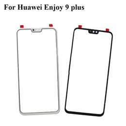 Discount glasses without lens - Black For Huawei Enjoy 9 plus Glass Lens touchscreen Touch screen Outer Screen For Huawei Enjoy9 plus Glass Cover withou