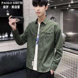 shirt korean designs NZ - New mens shirts in autumn are specially designed for leisure business Korean version of pure color long sleeve mens shirts