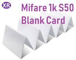 $enCountryForm.capitalKeyWord Australia - DHL 500Pcs 13.56mhz MF 1k s50 Pure White Mi-fare F08 blank Card RFID Contactless Promixity Radio 13.56MHZ frequency identification IC Card