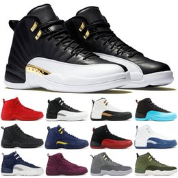 Discount top flight basketball - Top Quality 12 Gym Red Playoff International Flight Men Basketball Shoes 12s CNY College Navy Winter Black Designer Snea