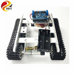 engines components Australia - T100 Crawler Tank Chassis Controlled by WiFi Android iOS Mobile Phone APP with Ar-duino Development board+Motor Drive Board DIY
