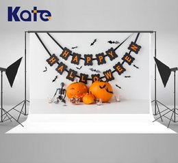 paint muslin backdrop Canada - Kate Microfiber Halloween Photography Backdrops Carved Pumpkin Background Holiday Candies Decoration Photo Backdrop for Photography