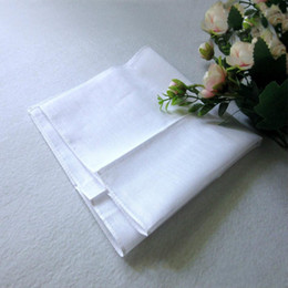 $enCountryForm.capitalKeyWord Australia - Wholesale white handkerchief, pure white handkerchief, pure color small square, cotton sweat towel, plain handkerchief,DHL free 070503