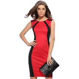Wholesale sexy tights packaging for sale - Group buy Dresses Women Sleeveless Pencil patchwork Tight Sexy Slim Fashion women s Package Hip Dress Vestidos HJY712