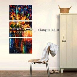 Leonid Afremov Canvas Prints Australia - Leonid Afremov : Tower River,3 Pieces Home Decor HD Printed Modern Art Painting on Canvas (Unframed Framed)