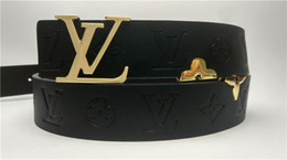 Leather woman cLothing online shopping - Fashion belt brand men and women with gold buckle belt honeysuckle hot casual clothing accessories high quality