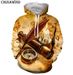 $enCountryForm.capitalKeyWord NZ - New fashion man woman sweatshirt 3d print Vintage Style compass goose pen leisure hoodies h63