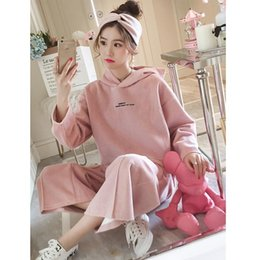 Sweater Skirt Suit Australia - Love2019 And Even Hat Pop Woolen Sweater Suit Woman Cool Time Motion High Waist Easy Wide Leg Pants Twinset