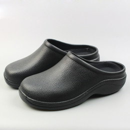 Kitchen plus online shopping - New Plus Size Women s Working Clogs Shoes EVA Black Garden Mule Clog Kitchen Work Sandals Nurse Chef Shoes Oil proof Woman