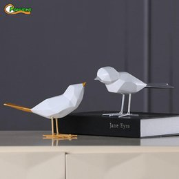 Christmas Decor For Offices Australia - Nordic Minimalist Original Resin Bird Figurine Furnishing Decor Craft For Christmas Peace Dove Statue Home Office Mascot C19041501