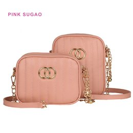 Light pink purses online shopping - Pink sugao new fashion shoulder bag women purse designer crossbody bags luxury chain bag pu leather small square pocket female bags hot sale