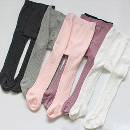 Leggings tights pants socks online shopping - Girls Boy Leggings Stockings Design Candy Color Girls Thicken Double Needles High Waist Warm Pure Cotton Bottom Socks Pants M T