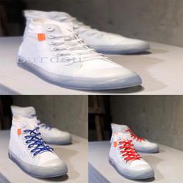 $enCountryForm.capitalKeyWord Australia - White Brand mens womens Designer Canvas Casual Shoes Net yarn transparent Basic Jewel QS black blue red high-top Skateboard shoes size 36-45