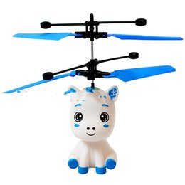 Pink helicoPter toy online shopping - Induction Aircraft Suspend Flexible Cartoon Children Toys Aircrafts Pink Bardian Girls Gifts Exquisite Helicopter Lovely qd N1