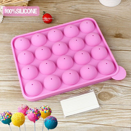 $enCountryForm.capitalKeyWord Australia - Silicone Tray Pop Cake Stick Mould Lollipop Party Cupcake Baking Mold Ice tray sphere maker Chocolate Mold