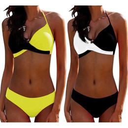 $enCountryForm.capitalKeyWord Australia - 2019 Sexy Push up Two piece Bikini Women Swimsuit Criss Cross Halter Bikinis Plus size Female Bathing suit Swim wear Beachwear