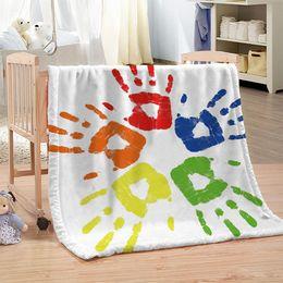 Beds Quilts Australia - Dropship Custom DIY Color Printing Blanket for Beds Paisley Thin Quilt Sky Blue Mandala Bedspread 120x150cm Fleece Throw Blanket