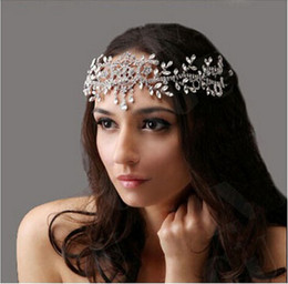 head chain headband Australia - Angel Rhinestone Headband Wedding Crystal Hair Accessories Tiaras Crown Bridal Jewelry Wedding Forehead Hair Head Chain Jewelry