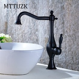 Polished Nickel Kitchen Faucets Australia - MTTUZK Free shipping 4 colors brush nickel finish single handle rotatable Bathroom basin mixer kitchen faucet cold water taps