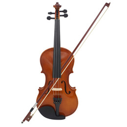 ebony flame 2019 - Astonvilla Full Size Violin Natural Acoustic Solid Wood Spruce Flame Maple Veneer Violin Fiddle for Beginner with Case R