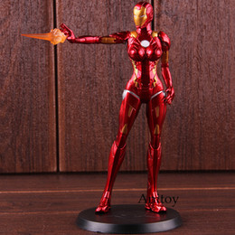 lady action figure Canada - X FACTION The Avengers Super Hero Iron Lady Iron Man MK8 PVC Action Figure Collectible Model Toy SH190915