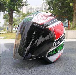 $enCountryForm.capitalKeyWord Australia - Motorcycle Helmet Half Open Face Men Women Casco Vintage Scooter Jet Helmet Retro Helmets Pare Moto Cascos Para