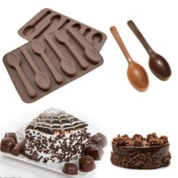 $enCountryForm.capitalKeyWord NZ - Bakeware Silicone 6 Holes Spoon Shape Chocolate Mold Cake Decorating Tools Kitchen Pastry Baking Soap Stencils Silicone Form