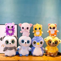 $enCountryForm.capitalKeyWord Australia - 23CM TY Big Eye Doll Plush Toy Corlorful Cartoon TY Beanie Boos Stuffed Animals Puppy Toys for Kids