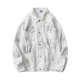 Wholesale down jean resale online – Reflective Denim Jackets Men Turn down Collar Streetwear Men s Jackets Jeans Jacket Man