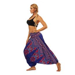 $enCountryForm.capitalKeyWord UK - 2019 new gym Bottom Pants Yoga Training Sports Printing National Style Comfortable Trend Pattern Loose fashion