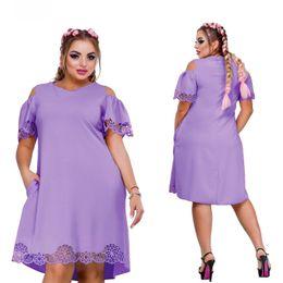 $enCountryForm.capitalKeyWord Australia - Women Dress Plus Size 6xl Vestidos Ladies Female Summer Dress V Neck Knee Length Dresses For Party Big Size