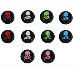 Ps4 Silicone Thumb NZ - skull head Silicone Analog Controller Thumbstick Thumb Grip Joystick Cap Grips for PS4 PS3 Xbox one 360 DHL FREE