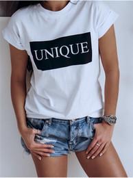 $enCountryForm.capitalKeyWord Australia - Female Unique Letter Printed Tops Fashion Designer Crew Neck Tshirt Summer Casual Women Short Sleeve Clothes