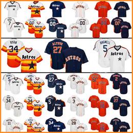 7ab93448d Houston Baseball Jersey Astros 27 Jose Altuve 35 Justin Verlander 34 Nolan  Ryan 4 George Springer 1 Carlos Correa 7 Craig Biggio cheap