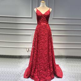 Red Satin Dress Design Australia - New Design Red Sleeveless Sexy Prom Dresses 2019 Handmade Flowers Pearls Mermaid Evening Dress Graduation Party Gowns robe de soiree