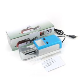 Electric Cigarette Roller Rolling Injector Machine Australia - New Blue Cigarette Injector Machines Smoking Tobacco Smoke Electric Rolling Machine Fully Automatic Roller Tool Gift