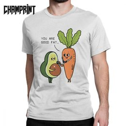 $enCountryForm.capitalKeyWord Australia - You Are Good Fat Avocado Men T Shirts Vegan Funny Guacamole Cartoon Food Vintage Tee Short Sleeve T-Shirts Pure Cotton Gift Idea