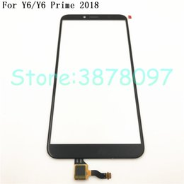 $enCountryForm.capitalKeyWord Australia - 100% Original 5.7 inches For Huawei Y6 2018   Y6 Prime 2018 Touch Screen Digitizer Sensor Panel Front Glass Lens With Logo