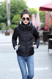 Womens Parkas Australia - Winter Jacket women Plus Size Womens Parkas Thicken Outerwear solid hooded Coats Short Female Slim Cotton padded basic tops
