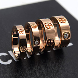 $enCountryForm.capitalKeyWord NZ - Titanium steel nails rings lovers Band Rings Size for Women and Men brand jewelry NO original box