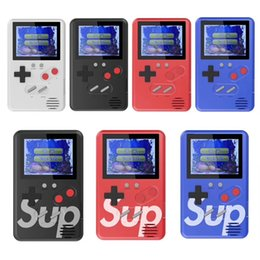 ClassiC video games online shopping - SUP games Console Ultra thin Mini Handheld Game Machine Portable Classic video game player Color Display games with retail box