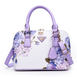 $enCountryForm.capitalKeyWord UK - Pu Leather Luxury Women Tote Shoulder Bag Hight Quality Chinese Style Flowers Shoulder Bags Lotus Printing Summer Commuting Bags