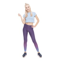 fitness girls leggings NZ - Girl Leggings Strong Girl Stripe 3D Graphic Full Print Comfortable Yoga Pants Woman Sportwear Pencil Fit Lady Fitness Soft Jeggings (Y52035)